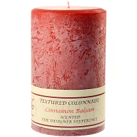 Textured Cinnamon Balsam 4 x 6 Pillar Candles
