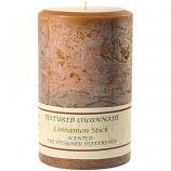 Textured Cinnamon Stick 4 x 6 Pillar Candles