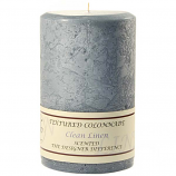 Textured Clean Linen 4 x 6 Pillar Candles