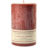 Textured Cranberry Chutney 4 x 6 Pillar Candles