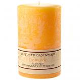 Textured Creamsicle 4 x 6 Pillar Candles