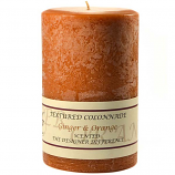 Textured Ginger and Orange 4 x 6 Pillar Candles