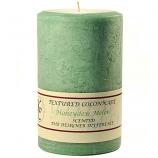 Textured Honeydew Melon 4 x 6 Pillar Candles