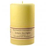 Textured Lemon Meringue 4 x 6 Pillar Candles