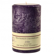 Textured Lilac 4 x 6 Pillar Candles