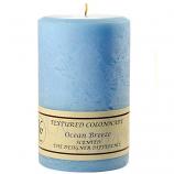 Textured Ocean Breeze 4 x 6 Pillar Candles