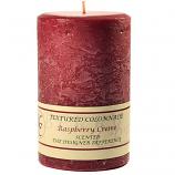 Textured Raspberry Cream 4 x 6 Pillar Candles