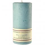 Textured Blue Lagoon 4 x 9 Pillar Candles