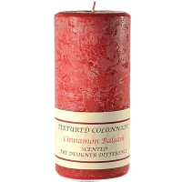 Textured Cinnamon Balsam 4 x 9 Pillar Candles