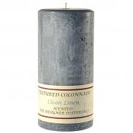 Textured Clean Linen 4 x 9 Pillar Candles