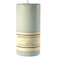 Textured Cool Citrus Basil 4 x 9 Pillar Candles