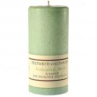 Textured Honeydew Melon 4 x 9 Pillar Candles
