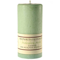 Textured Honeydew Melon 4 x 9 Pillar Candles