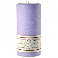 Textured Lavender Vanilla 4 x 9 Pillar Candles