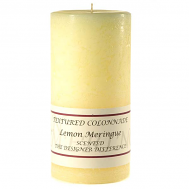 Textured Lemon Meringue 4 x 9 Pillar Candles