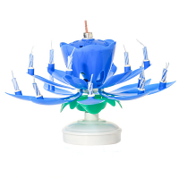 Blue Musical Flower Birthday Candles