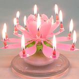 Pink Musical Flower Birthday Candles