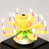 Yellow Musical Flower Birthday Candles