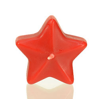 Small Red Star Floating Candles