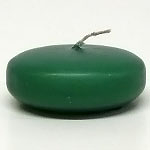 Large Forest Green Disc Floating Candles