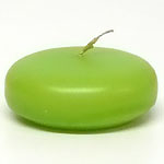Large Lime Green Disc Floating Candles