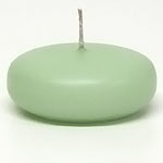 Large Mint Green Disc Floating Candles