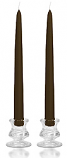 6 Inch Brown Taper Candles