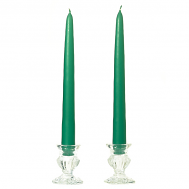6 Inch Forest Green Taper Candles