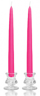 6 Inch Hot Pink Taper Candles