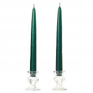 6 Inch Hunter Green Taper Candles