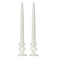 6 Inch White Taper Candles Pair