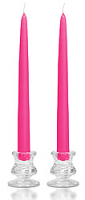 8 Inch Hot Pink Taper Candles Pair