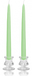 8 Inch Mint Green Taper Candles