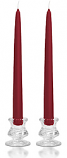 8 Inch Raspberry Taper Candles