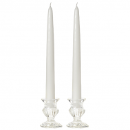 8 Inch White Taper Candles