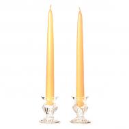 10 Inch Peach Taper Candles