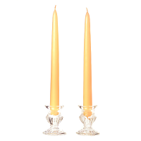10 Inch Peach Taper Candles