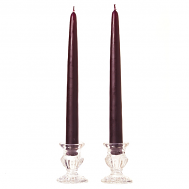 10 Inch Plum Taper Candles