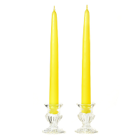 10 Inch Yellow Taper Candles Pair