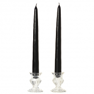 12 Inch Black Taper Candles