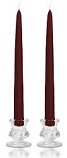 12 Inch Burgundy Taper Candles