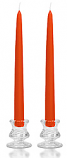 12 Inch Burnt Orange Taper Candles