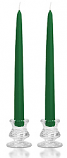 12 Inch Hunter Green Taper Candles