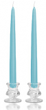 12 Inch Light Blue Taper Candles