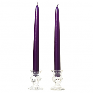12 Inch Lilac Taper Candles