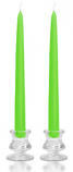 12 Inch Lime Green Taper Candles