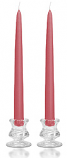 12 Inch Mauve Taper Candles