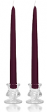 12 Inch Plum Taper Candles
