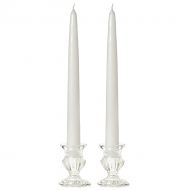 12 Inch White Taper Candles