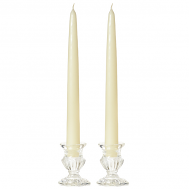 15 Inch Ivory Taper Candles
